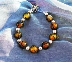 On Sale Once upon a time emma swan Fairytale emma Tiger striped jade beaded and silver bracelet ouat