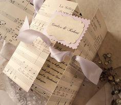Vintage/music invitation idea
