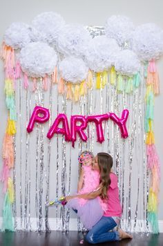 Rainbow Tassel Photobooth Backdrop And Silver Foil Fringe Tassels Mylar Only Birthday P Sherbet Photo