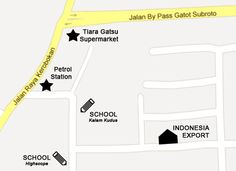 Map to Indonesia Export