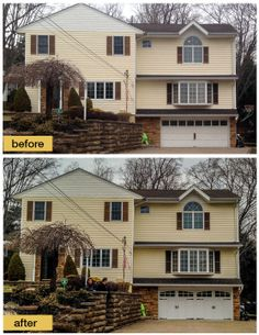 These N.J. homeowners replaced their worn out garage door with a low-maintenance, insulated Clopay Coachman Collection steel carriage house door, Design 12 with Arch3 windows. The door adds instant warmth and curb appeal to the exterior. We especially like the stone surround. Installed by Aquarius Door Services. www.clopaydoor.com