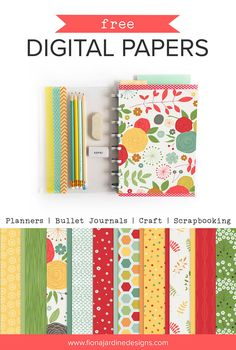 Free Digital papers for Craft Scrapbooking and Planners.jpg