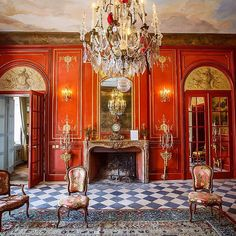 Red Rooms, Red Interiors, Red Paint, Shades Of Red, Very Well, Old World, Interior Decorating, Detail, Instagram