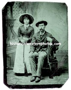 Virgil and Allie Earp. Allie lived into her dying in Virgil died in 1905 at the age of History Photos, Us History, Canadian History, American History, Early American, Native American Art, Vintage Pictures, Old Pictures, Virgil Earp