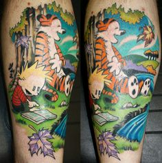 calvin and hobbes tattoo by ~BrentSmith-aloadofBS on deviantART