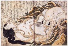 Hokusai Katsusika. 蛸と海女(葛飾北斎の画)