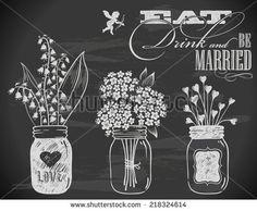 chalkboard art wedding cocktails - Google Search
