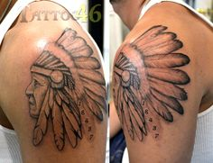 Indian head tattoo