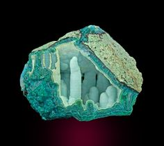 chrysocolla  ( which the local rocks and minerals club used to dig up locally)