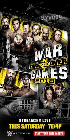 WWE NXT Takeover: WarGames 2018 All Star, Download Tv Shows, Wrestling Posters, Nxt Takeover, Wwe Pay Per View, Star Wars, Watches Online, Language, The Originals