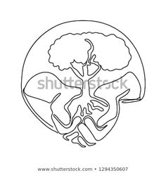 Continuous line illustration of a hand holding a tree on palm of hand set inside oval shape done in monoline style black and white. Hand Holding, Holding Hands, Continuous Line, Line Illustration, Oval Shape, Planting, Palm, Royalty Free Stock Photos, Shapes