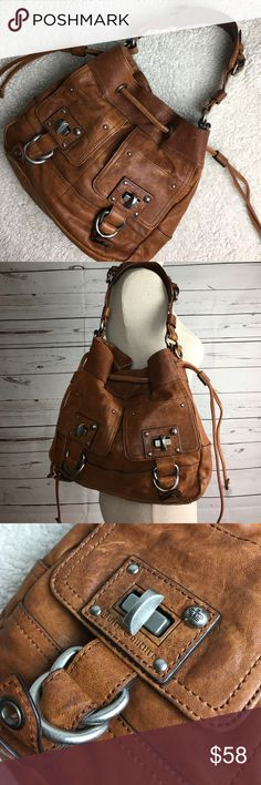 Juicy Couture Leather Handbag Juicy Couture Amazing Condition Leather Handbag Brown Measurements 15 inches wide 10 inches tall Juicy Couture Bags Shoulder Bags