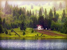 Colibita Lake in Bistrita Nasaud county, Romania