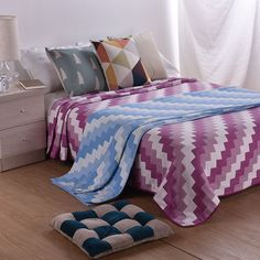 Beroyal 4layers 100% Cotton Throw Quilt Weave Blankets Cover Solid Bed Sheet … 4355ee8c9