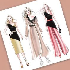 Fashion Drawing Dresses, Fashion Illustration Dresses, Fashion Design Drawings, Fashion Sketches, Fashion Art, Fashion Outfits, Womens Fashion, Fashion Vocabulary, Dress Sketches