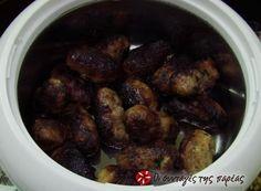 Σιεφταλιές #sintagespareas Greek Cooking, Lamb, Sausage, Beans, Favorite Recipes, Vegetables, Food, Easter, Kitchens