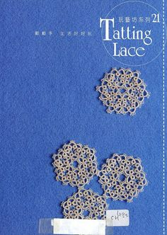 Tatting Lace . Complete magazine at site, with tatting diagrams. .... #tatting