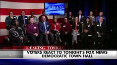 """What did Michigan voters think about tonight's Fox News Democratic town hall?"" Surprising to have a semi-fair assessment of presidential candidates on FOX news."