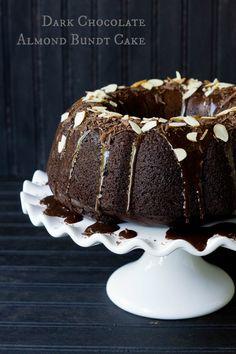Dark Chocolate Almond Bundt Cake