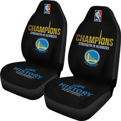Golden State Warriors Car Seat Cover 2018 NBA Back 2 Back Champions Seat Covers Custom Car Seat Covers, Best Car Seat Covers, Bucket Seat Covers, Car Seat Cover Sets, Golden State Warriors Gear, Nba Warriors, New York Christmas Gifts, Champion Gear, 2018 Nba Champions