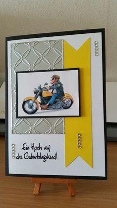 Geburtstagskarte für Motorradfahrer