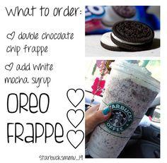 Starbucks Oreo frappe. ♡