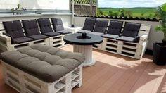 stilvolles Design - Sofas aus Paletten elegante Auflagen