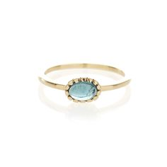 Dear Rae // Blue Tourmaline 9ct yellow gold ring