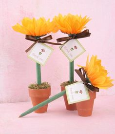 Sunflower party favors.  I've made these before.  :-)