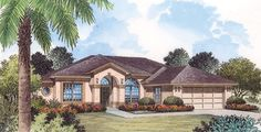 This+lovely+one-story+house+boasts+a+contemporary+feel+while+also+adding+warmth+with+the+Mediterranean+elements+of+stucco+and+arched+windows+and+doorways.+Inside,+the+formal+dining+room+flows+easily+into+the+living+room,+which+opens+to+the+covered+patio.+Double+doors+reveal+a+den,+which+could+also+serve+as+a+home+office+or+a+fifth+bedroom.+The+open+kitchen+spills+into+the+versatile+breakfast+nook+as+well+as+into+the+fa