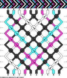 Friendship bracelet pattern new Diy Bracelets Patterns, String Bracelet Patterns, Thread Bracelets, Bracelet Knots, Bracelet Crafts, Bracelet Designs, Macrame Bracelets, String Bracelets, Macrame Knots