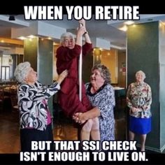Never to old to be a pole dancer