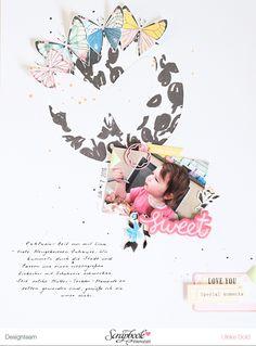 Layout *Sweet* - Scrapbook Werkstatt März Kit 2017 *Flügelschlag* - von Ulrike Dold