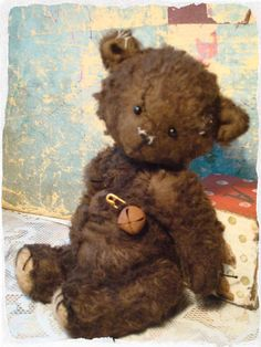 Lovely tattered ted! Barni by Shop antique toys