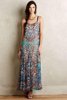 Kemi Silk Maxi Dress #anthrofave