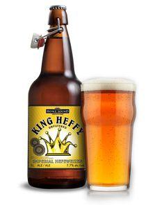 Cerveja King Heffy Imperial Hefeweizen, estilo German Weizen, produzida por Howe…