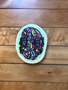 You're a Gem Hand Painted Wood Round Acrylic Paint Pens, White Acrylic Paint, Wood Artwork, Painting On Wood, Trippy Painting, Wood Rounds, Hand Painted, Painted Wood, Art Journal Inspiration