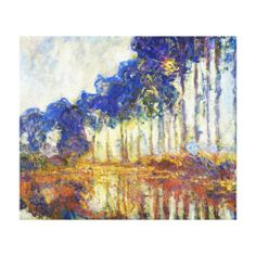 Poplars on the Banks of the River Epte Monet Stretched Canvas Prints #canvas #print #home #decoration #painting #Paris #France #art