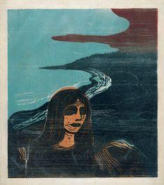 Edvard Munch - Woman's Head against the Shore 1899