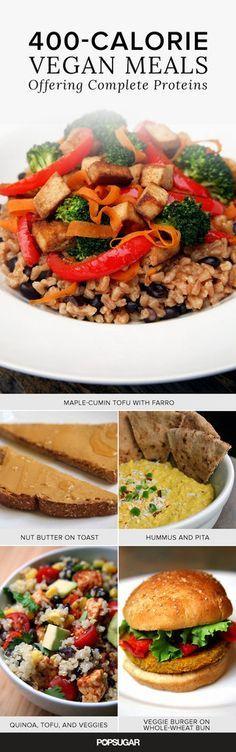 Vegan Meals Offering Complete Proteins Under 400 Calories | POPSUGAR Fitness