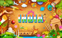 Illustration about Illustration of India background showing its incredible culture. Illustration of indian, hinduism, india - 64925763 15 August Independence Day, Indian Independence Day, Independence Day Images, Incredible India Posters, Amazing Photos, Name Drawings, Independence Day Decoration, Board Decoration, Leaf Decoration