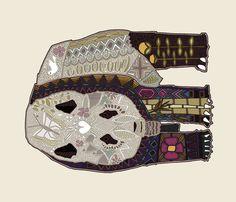 chocolate panda art panel fabric by scrummy on Spoonflower - custom fabric