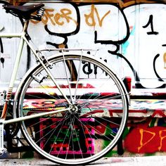 bicycle. nice placement of background