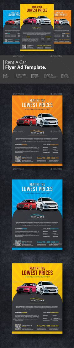 Rent A Car Flyer - Great for Automotive Promotion. Car Flyer is great way of promoting your local business to local people. http://graphicriver.net/item/rent-a-car-flyer/15638326?ref=themedevisers