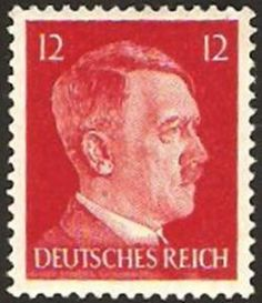 Adolf Hitler (1889 – 1945) the leader of the Nazi Party . German postage stamp 1944