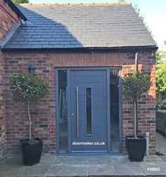 Contemporary Front Doors, oak iroko and other woods, Bespoke Doors Front Door Porch, Front Door Entrance, House Front Door, Oak Front Door, Grey Composite Front Door, Grey Front Doors, Garage Door Design, Front Door Design, Garage Doors