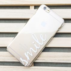 Clear Plastic Case Cover for iPhone 5C - (Henna) Smile