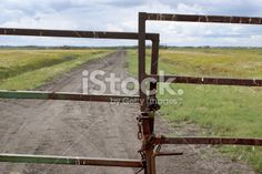 gated prairie road Royalty Free Stock Photo