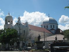 Basilica of the Immaculate Conception Parish, Batangas City - Where we used to go to church every Sunday. My high school is attached on the right - St. Bridget's College.