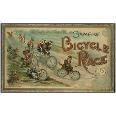 Antiques, Oddities and Vintage / 1895 Game of Bicycle Race  McLoughlin Bros.